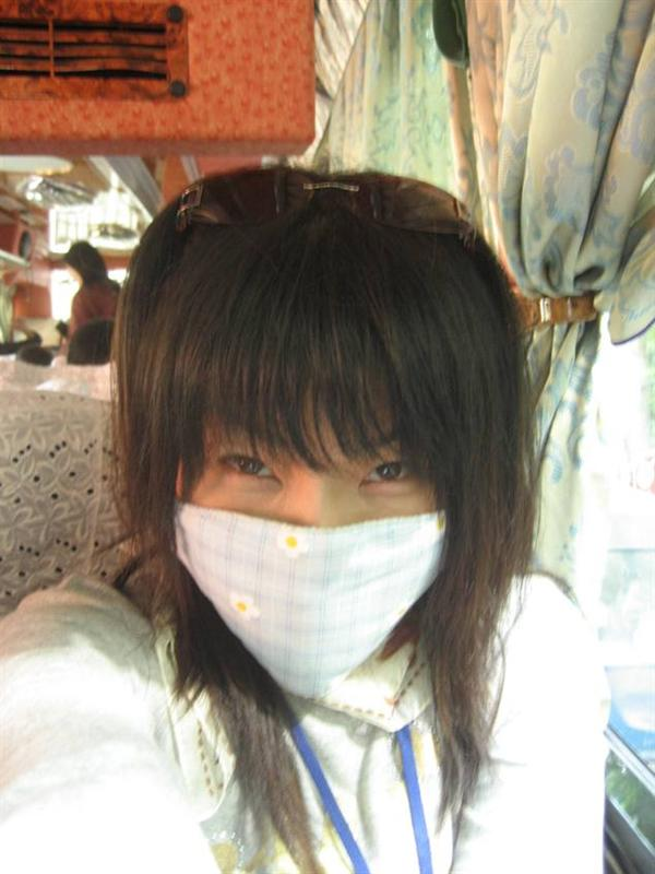 hiding... if flu couldn't find me behind the mask ~