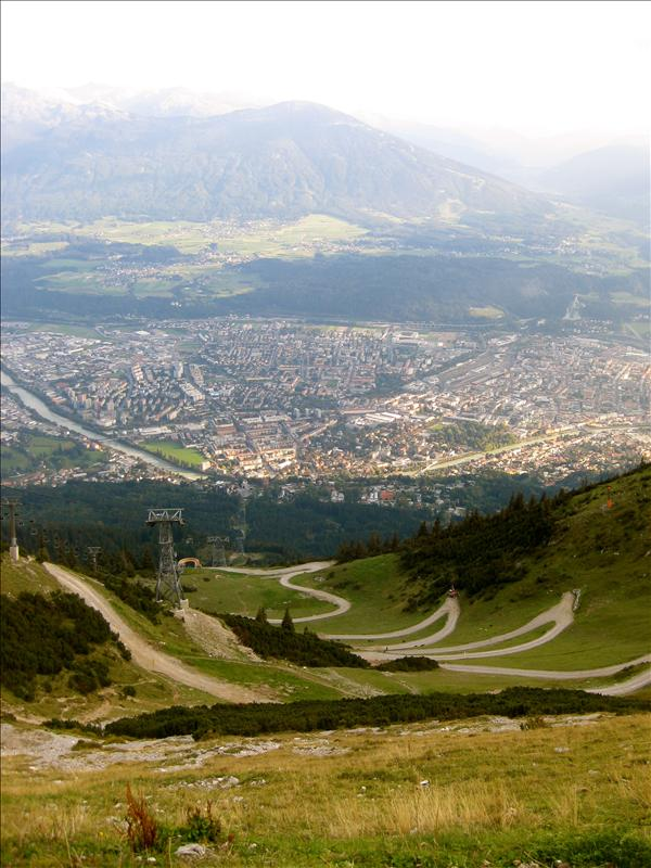 the dirt bike trails..and innsbruck