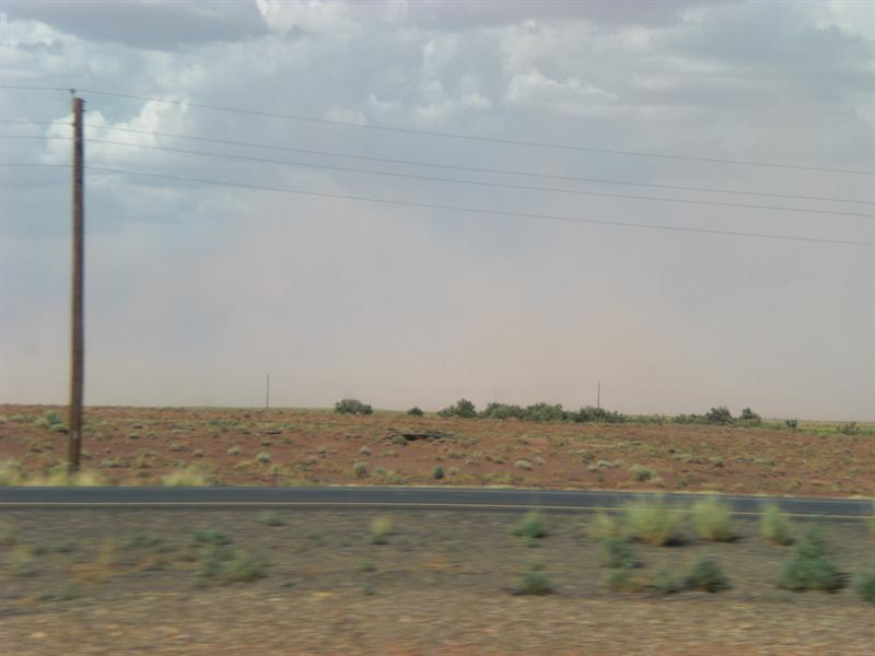 Wall of Dust to the North - I-40 in AZ