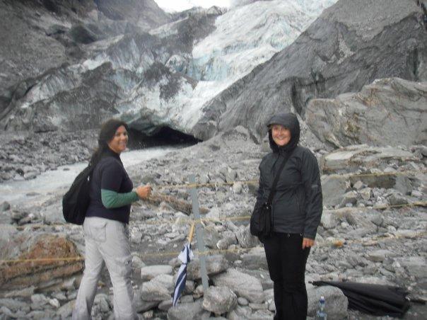 At the base of the glacier at Franz Josef