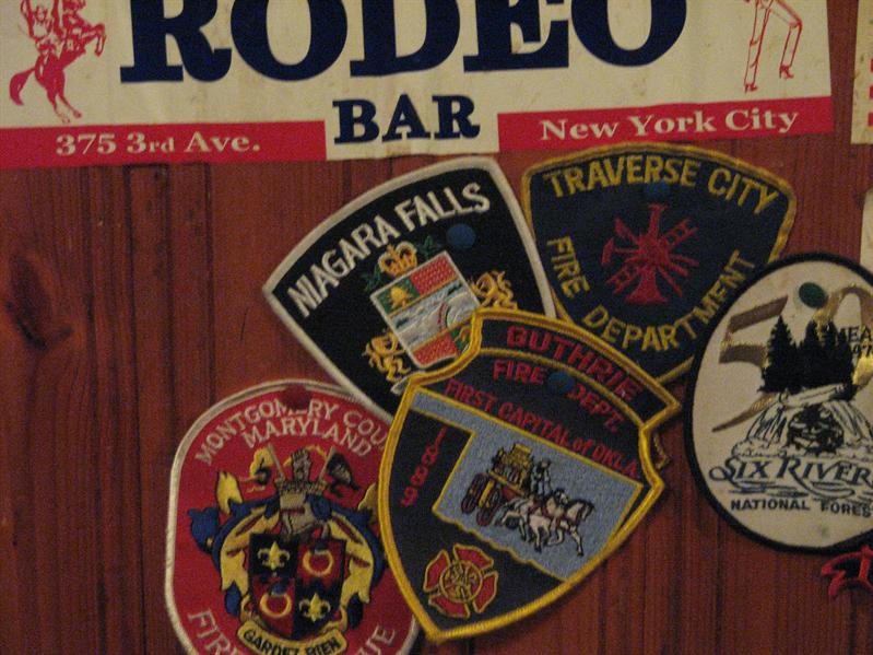 At O'Connors Pub they had walls full of these patches