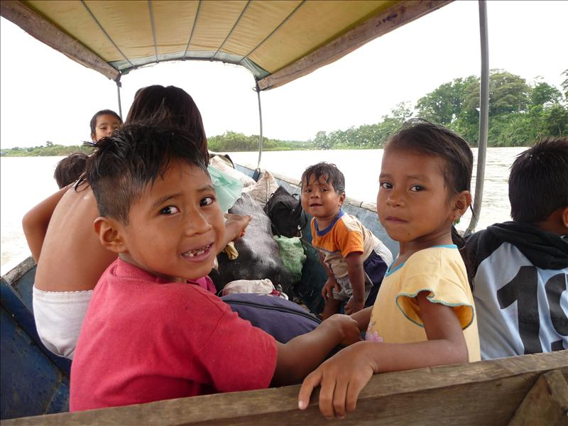 Local kids on our boat back to the mainland