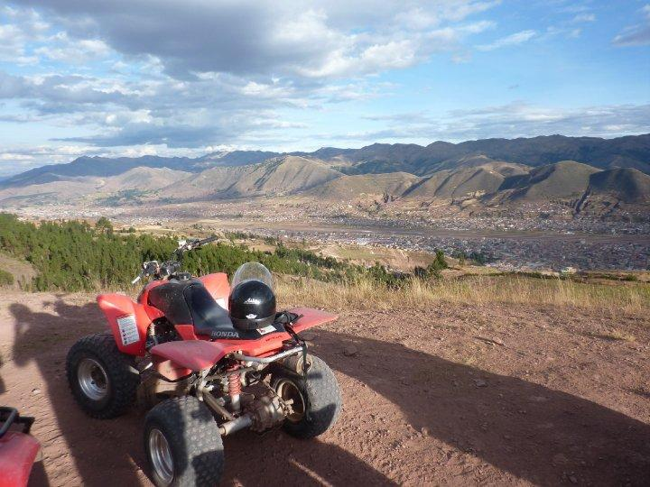 quad biking outside cusco