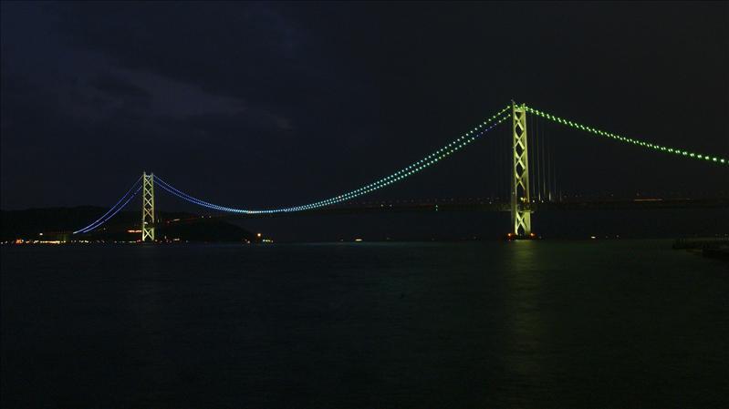 Akashi Bridge at Night