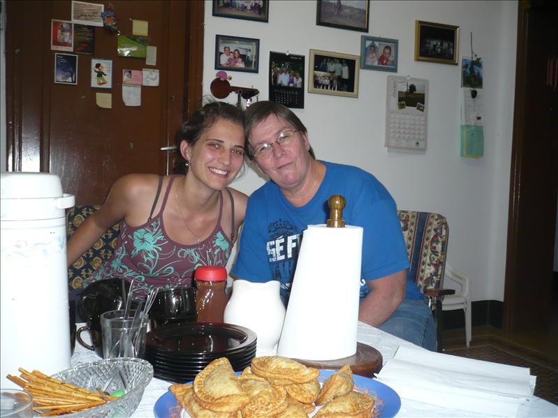 mit Marianne, die uns wöchentlich vor dem Hungertod rettet - DANKE (ein kleines bisschen übertrieben ;)