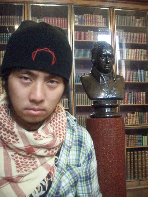 Eric's stern, like a statue