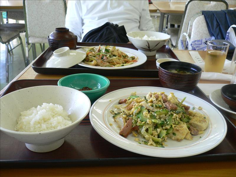 午餐:豆腐炒苦瓜, 豆腐炒青菜