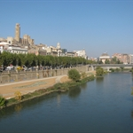 Lleida, the cathedral far...