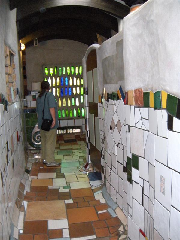 The inside of the public toilet at Kawakawa
