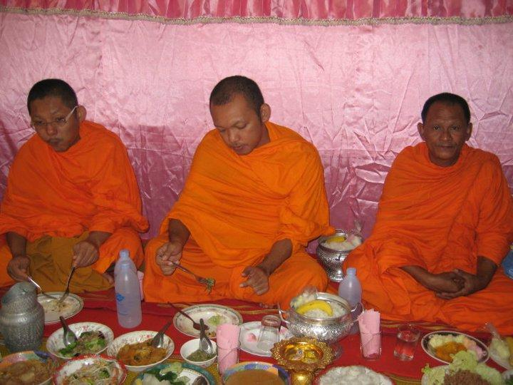 The monks will eat first