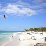 kite surfing at silver point barbados