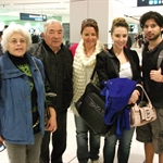 At the airport with my family and Rodolfo