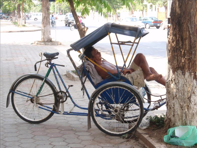 Typical hard-working Cambodian man