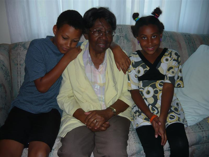 Grandma Mildred and the kids