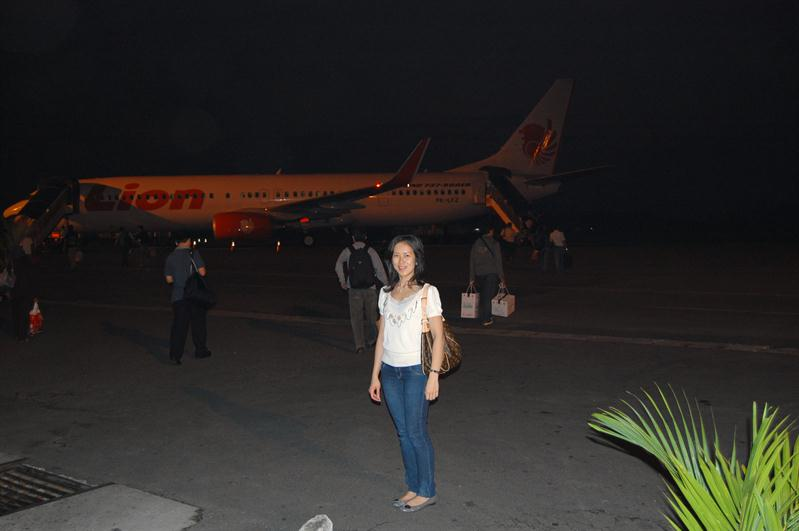 departing from Medan's polonia airport at 5:30am to bali