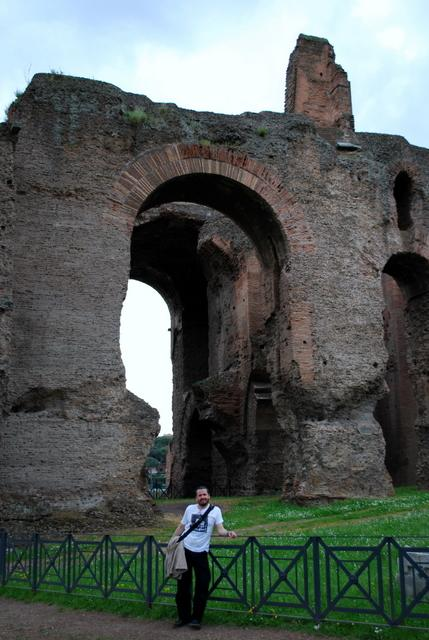 Massive arches on Palatine Hill