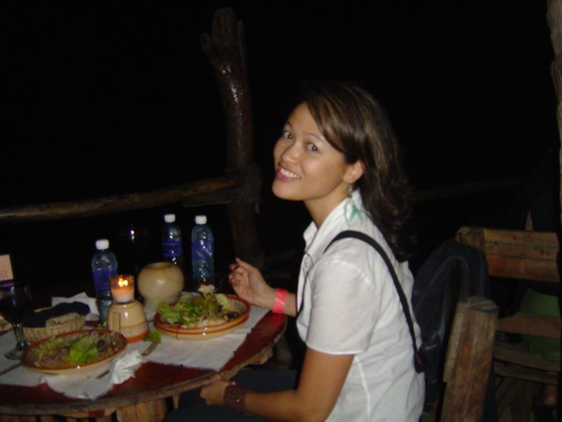 Isolated Las Caletas Cove ,dinner at night by the beach