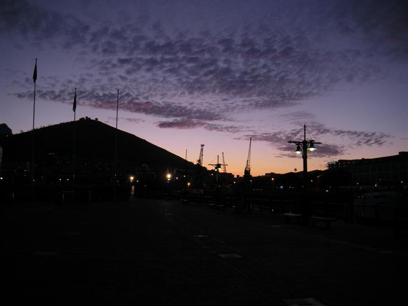 Sunset from V&A waterfront