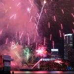 20120124 大年初二賀歲煙花匯演「龍珠獻瑞萬家歡」 @ 灣仔碼頭 Chinese New Year Firework @ Victoria Harbour Hong Kong