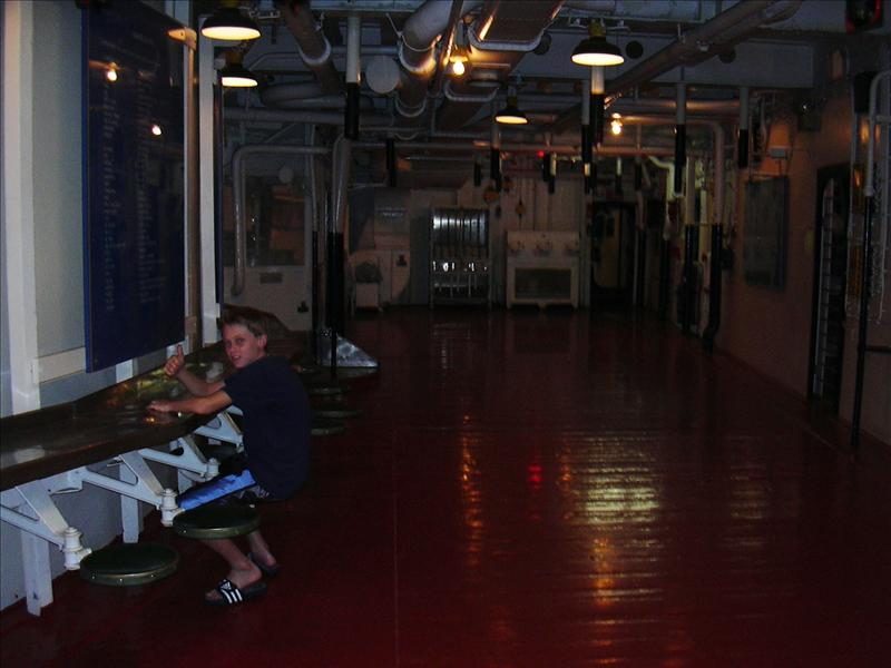 mess hall below decks