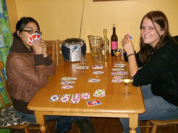Playing Skip-Bo or Skibooo depending on how you pronounce it :)