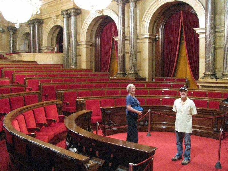 ... before visiting Catalunya's parliament...