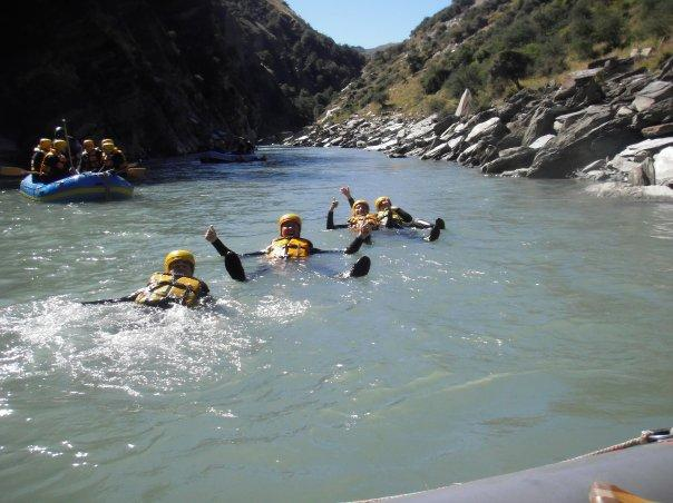 White Water rafting fun and games