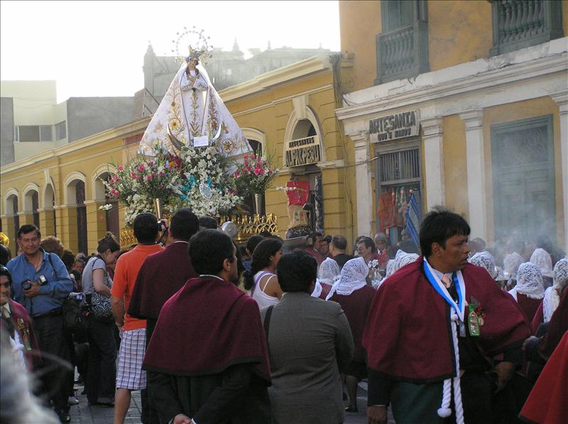 Inmaculada concepción procession at the Monasterio de San Francisco