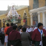 Inmaculada concepcin procession at the Monasterio de San Francisco