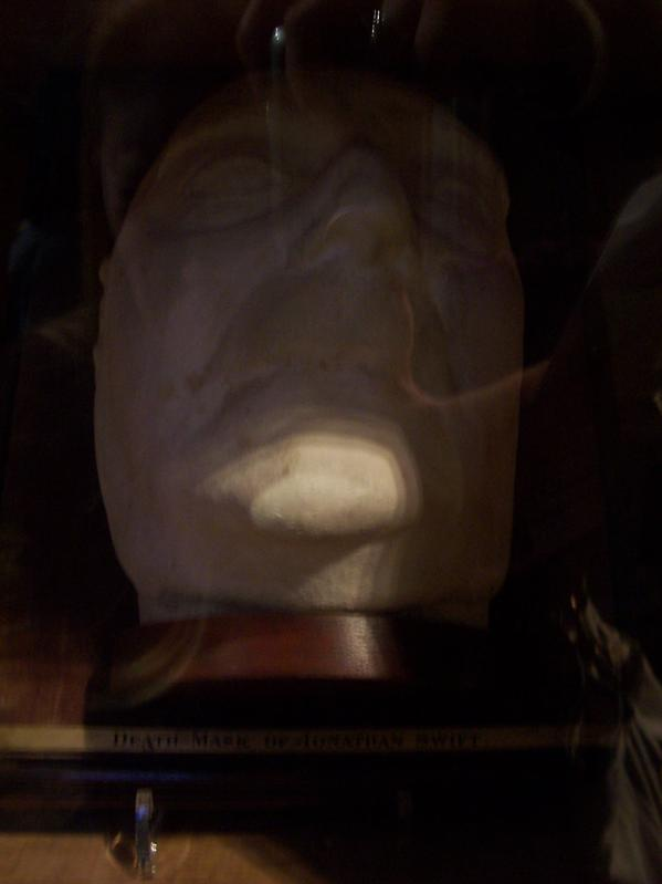 Swift's death mask. (Creepy.)
