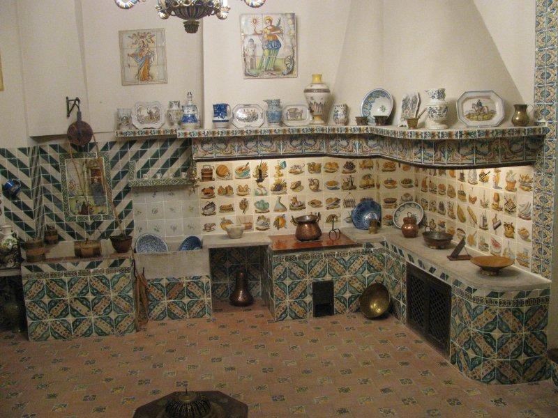 Valencian ceramic kitchen display.