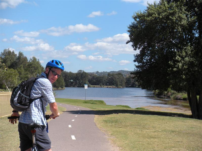 Cycling at Manly