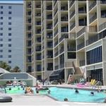 pool side on the beach
