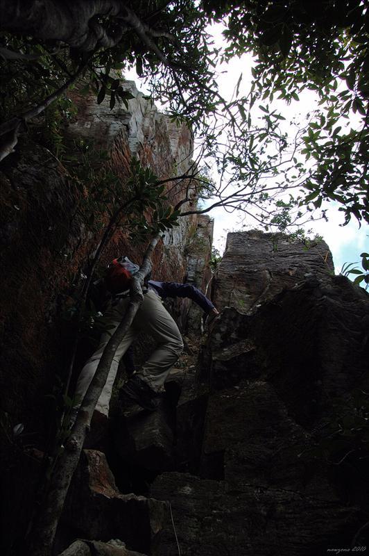 石罅外面係懸崖