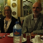 Eva and Arne - dinner at Bissau Palace