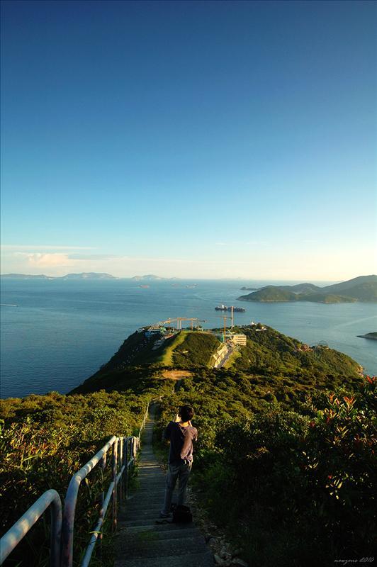 南朗山山頂下望海洋公園纜車站