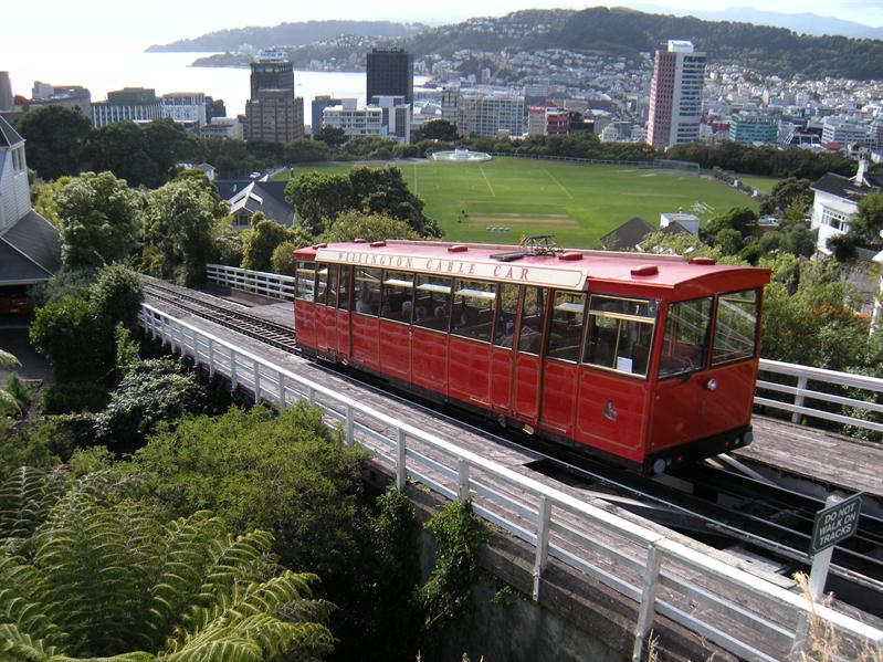 The cable car at Wellington