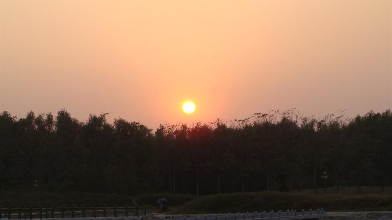 濮上园重阳节夕照