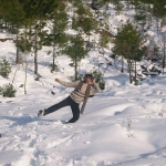 Fayu in snow of MURREE