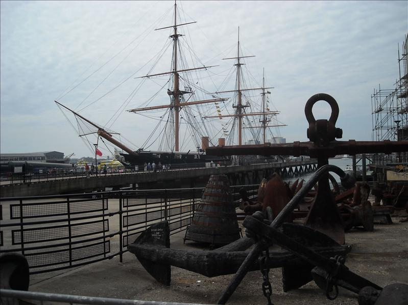 Warrier ship at Portsmouth harbour