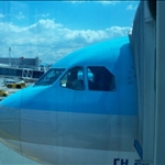 08/27 - on the way to jeju -   our plane :D