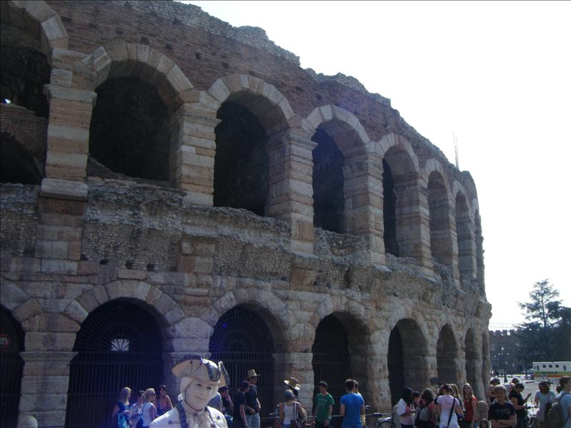 the arena..but it was closed because of concert