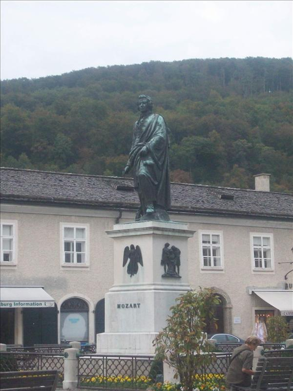 Statue of Mozart! He was born in Salzburg :)