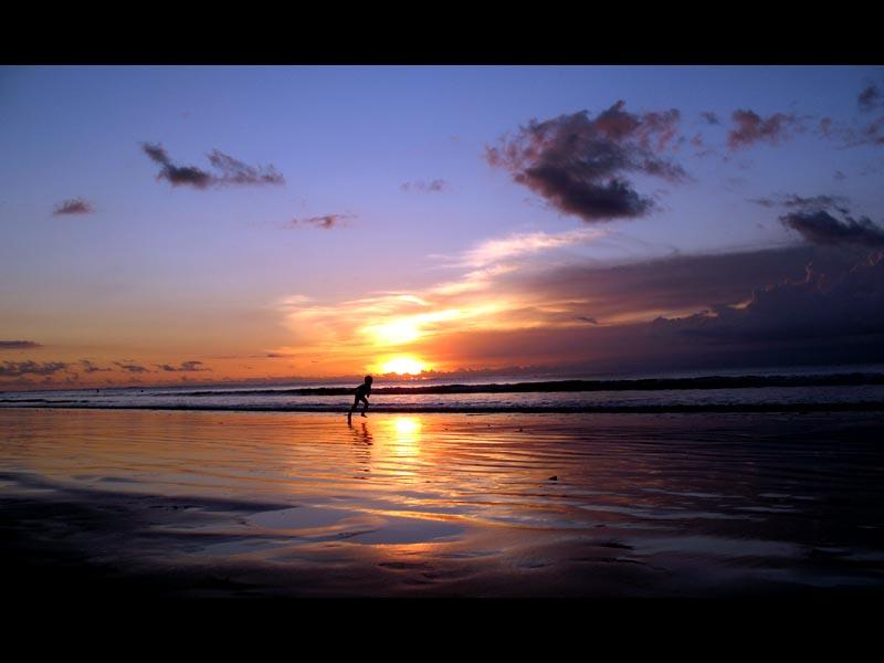 Sunset down at Kuta beach