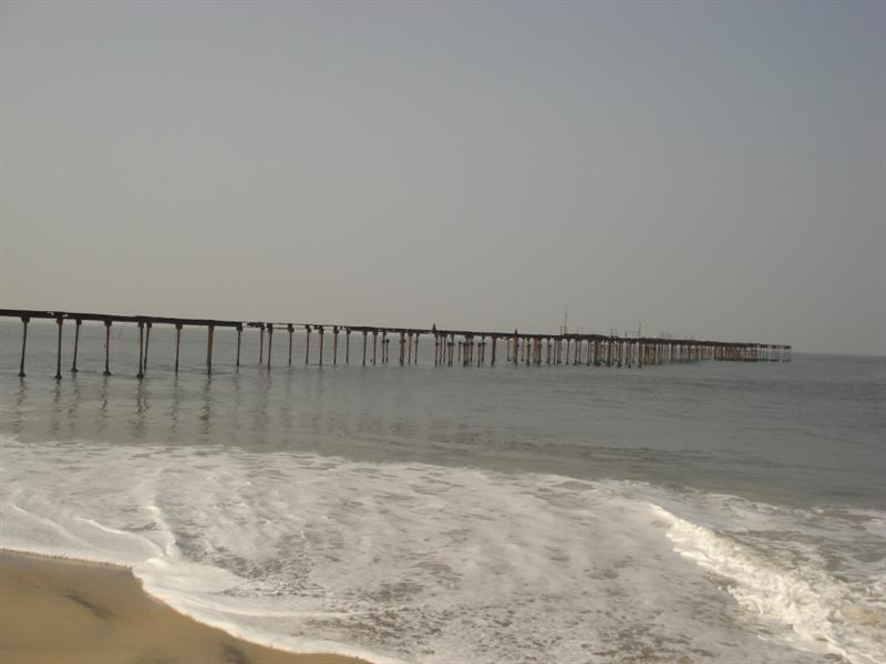 Sea Bridge at Alleppey Beach