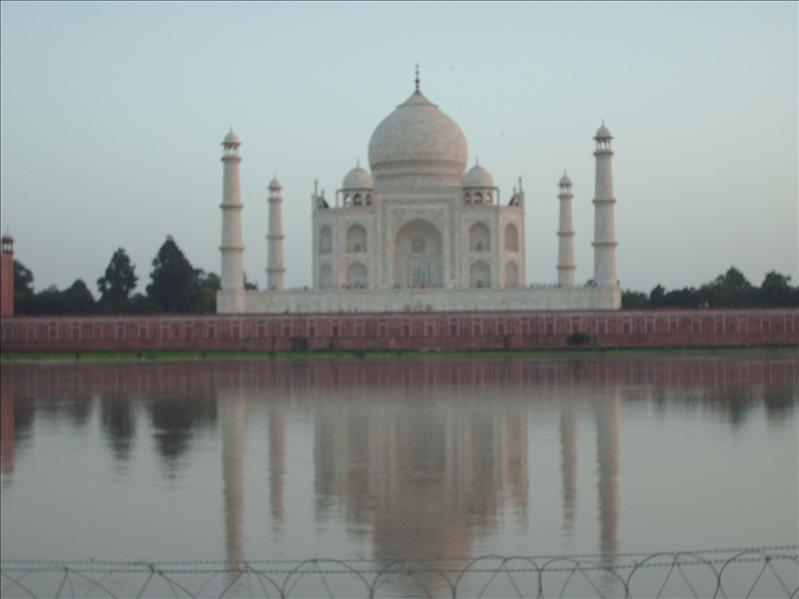 The Taj Majal at sunset
