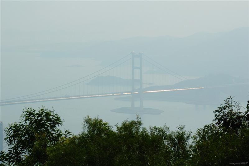 遠眺汀九橋