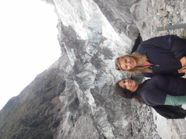 At the base of the glacier at Franz Josef