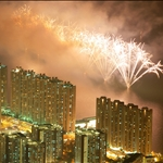 20090919 Pyrotechnics display in Tuen Mun 國慶銀花耀屯門