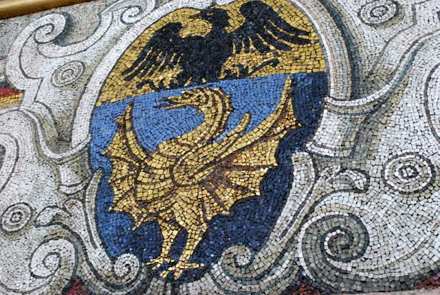 Mosaic on the wall of the dome